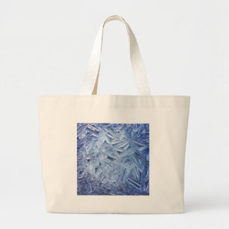 Beautiful Ice Crystals Close-up Large Tote Bag