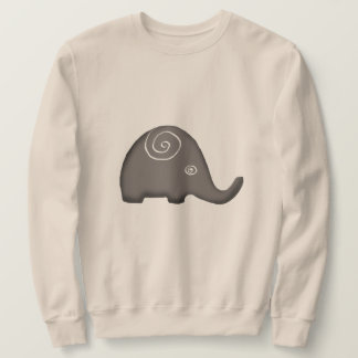 Beautiful Iconic Tribal Spiral Elephants Sweatshirt