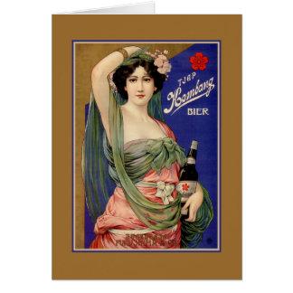 Beautiful Indonesian Japanese beer advertising Card