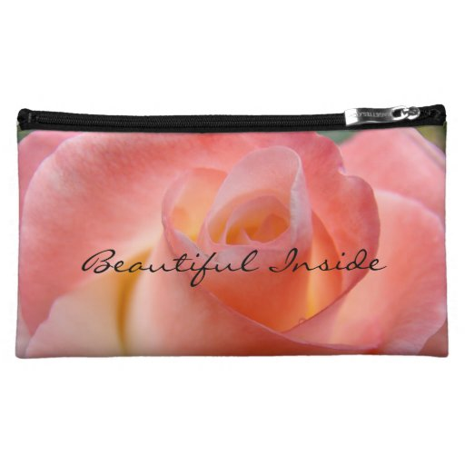 Beautiful Inside cosmetic bag gifts Pink Rose