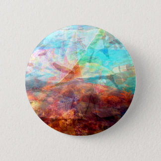 Beautiful Inspiring Underwater Scene Art 2 Inch Round Button