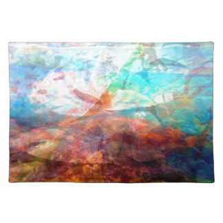 Beautiful Inspiring Underwater Scene Art Placemat