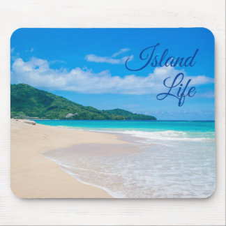 Beautiful Island Life Tropical Beach Mouse Pad
