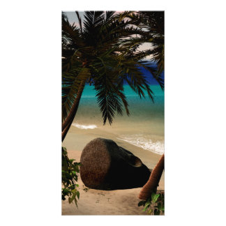 Beautiful island photo card template