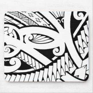 beautiful island tattoo designs modern black art mouse pad