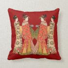 Beautiful Japanese Art Design Throw Pillows