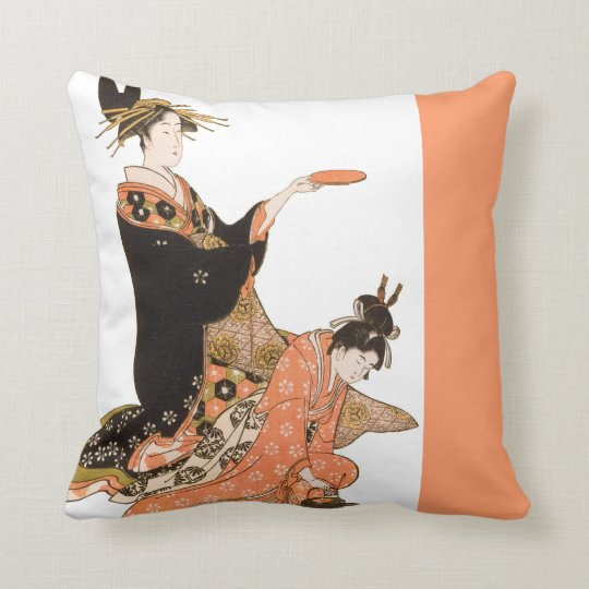 Beautiful Japanese Geisha Design Throw Pillows