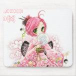 Beautiful Japanese girl in Kimono Mouse Pad