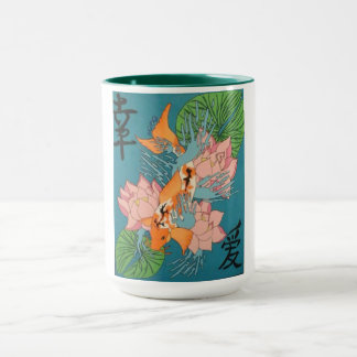 Beautiful Japanese Koi Fish Mug