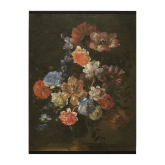 Beautiful Jean Baptiste Floral Bouquet Painting Wood Wall Decor