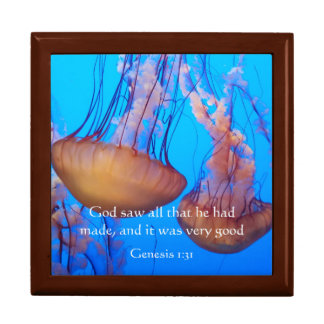 Beautiful Jellyfish Bible Verse Jewelry Box