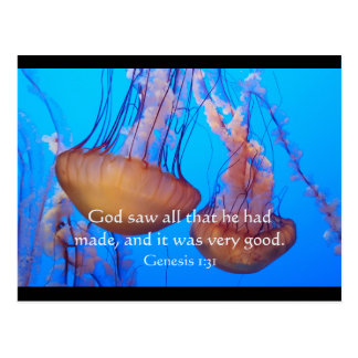 Beautiful Jellyfish Bible Verse Postcard