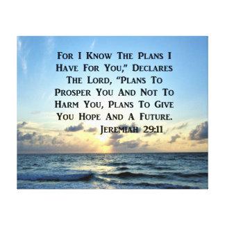 BEAUTIFUL JEREMIAH 29:11 SCRIPTURE VERSE CANVAS PRINT