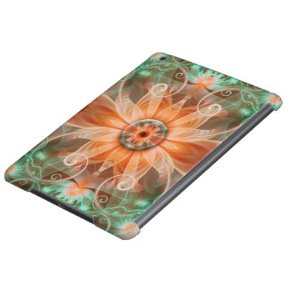 Beautiful Jeweled Peach Star Fractal Orchid Flower Cover For iPad Air