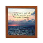 BEAUTIFUL JOHN 14:6 PHOTO DESIGN DESK ORGANIZER
