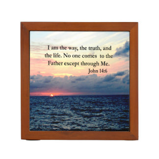 BEAUTIFUL JOHN 14:6 PHOTO DESIGN DESK ORGANIZER