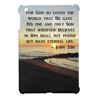 BEAUTIFUL JOHN 3:16 SCRIPTURE SUNRISE PHOTO COVER FOR THE iPad MINI
