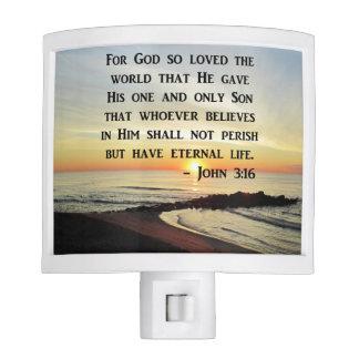 BEAUTIFUL JOHN 3:16 SCRIPTURE SUNRISE PHOTO NITE LITES