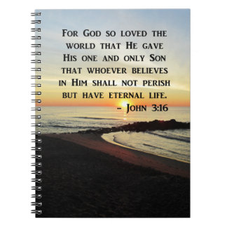 BEAUTIFUL JOHN 3:16 SCRIPTURE SUNRISE PHOTO NOTEBOOKS