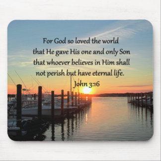 BEAUTIFUL JOHN 3:16 SUNSET PHOTO DESIGN MOUSE PAD