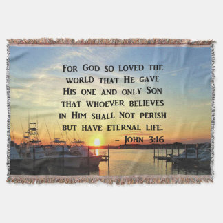 BEAUTIFUL JOHN 3 16 SUNSET PHOTO DESIGN THROW BLANKET