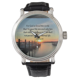 BEAUTIFUL JOHN 3:16 SUNSET PHOTO DESIGN WATCH