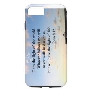 BEAUTIFUL JOHN 8:12 PHOTO DESIGN iPhone 7 CASE