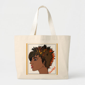 Beautiful Jumbo Tote Bag with Woman