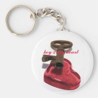 Beautiful key 2 my heart keychain