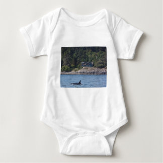 Beautiful Killer Whale Orca in Washington State Baby Bodysuit