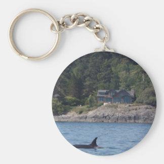Beautiful Killer Whale Orca in Washington State Basic Round Button Keychain