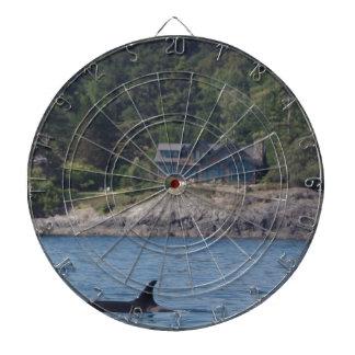 Beautiful Killer Whale Orca in Washington State Dart Board