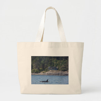 Beautiful Killer Whale Orca in Washington State Large Tote Bag