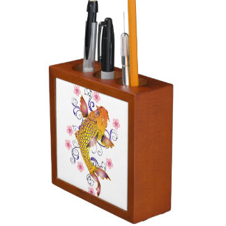Beautiful Koi Desk Organizer