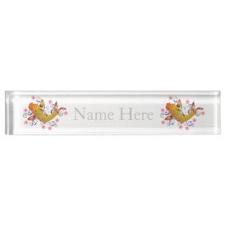 Beautiful Koi Name Plate