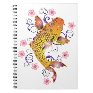 Beautiful Koi Notebooks