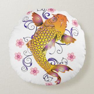Beautiful Koi Round Pillow