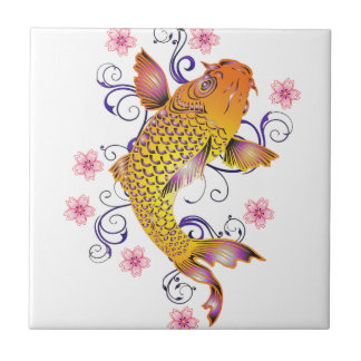 Beautiful Koi Tile