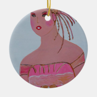 Beautiful Lady 3.JPG Ceramic Ornament