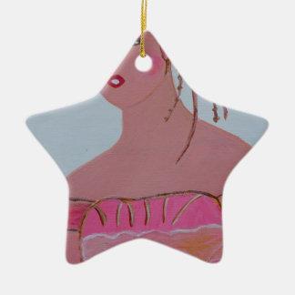Beautiful Lady 3.JPG Ceramic Ornament
