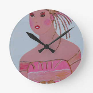 Beautiful Lady 3.JPG Round Clock