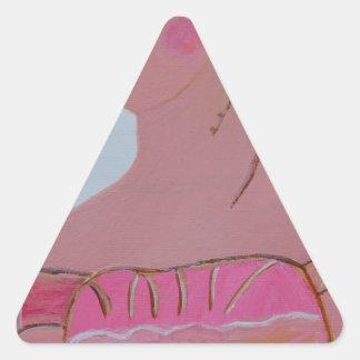Beautiful Lady 3.JPG Triangle Sticker