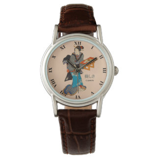 Beautiful Lady Japanese Print 1 Utagawa Kunisada Wrist Watch