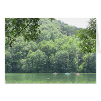 Beautiful Lake and Kayakers Photo Blank Card