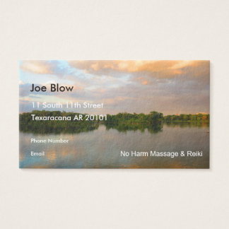 Beautiful Lake at Sunset Business Card