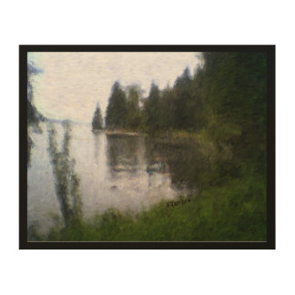Beautiful Lake Design: digitally altered photo. Wood Canvases
