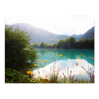 Beautiful lake in the Alps, Slovenia Postcard