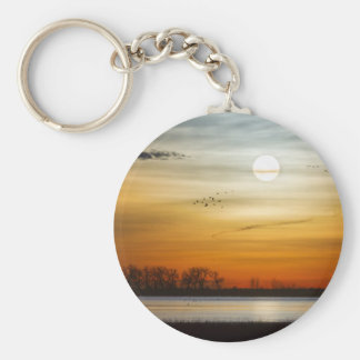 Beautiful Lake Morning Keychain
