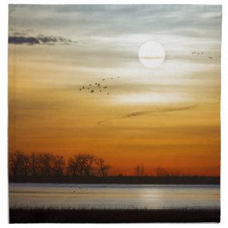 Beautiful Lake Morning Napkin