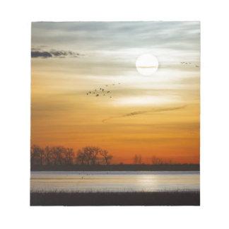 Beautiful Lake Morning Notepad